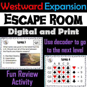 Westward Expansion: Escape Room - Social Studies