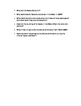 Westward Expansion Exam Review