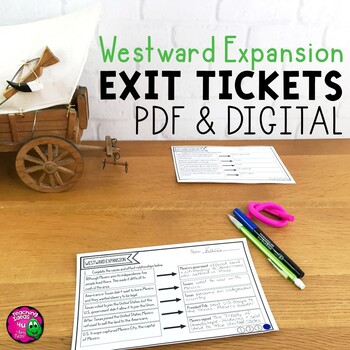 Westward Movement & Expansion Exit Tickets Set