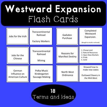 Westward Expansion Flash Cards