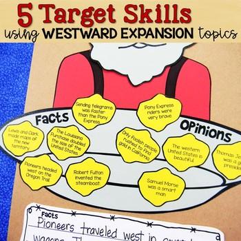Westward Expansion Gold Rush Reading, Writing, Grammar Craft