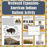 Westward Expansion / Great Plains - American Indians Stations Activity