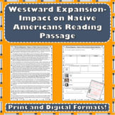 Westward Expansion / Great Plains - Impact on American Indians Reading Passage