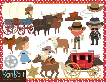 Westward Expansion Bundle Clip Art