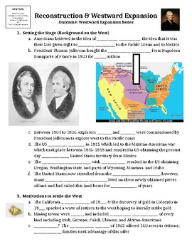 Westward Expansion Guided PowerPoint Lecture Notes