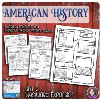 Westward Expansion Illustrated Timelines - US History