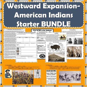 Westward Expansion - Impact on American Indians Starter BUNDLE