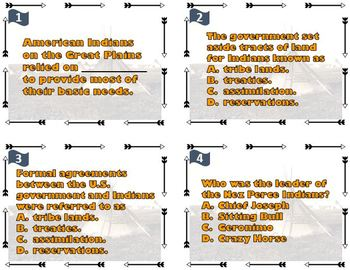 Westward Expansion - Impact on American Indians Task Cards