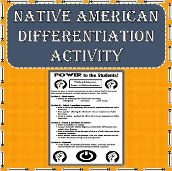 Westward Expansion - Impact on Native American Differentiation Activity