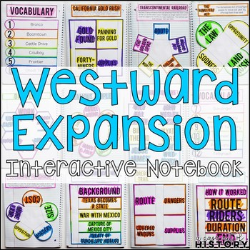 Westward Expansion Interactive Notebook & Graphic Organizers American History