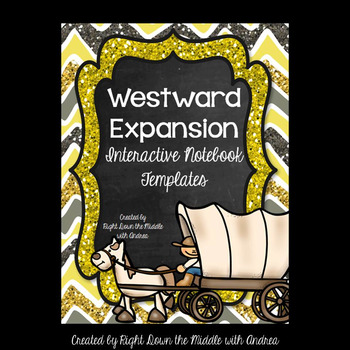 Westward Expansion Interactive Notebook Templates