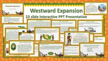 Westward Expansion Interactive PPT & Guided Notes/Study Guide