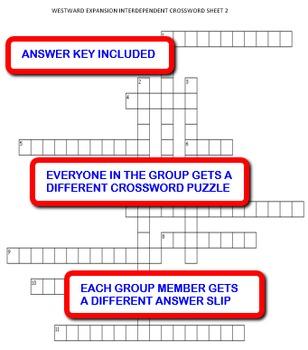 Westward Expansion: Interdependent Crossword Puzzles Activity