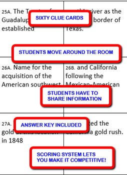 Westward Expansion: Interdependent Divided Questions Activity