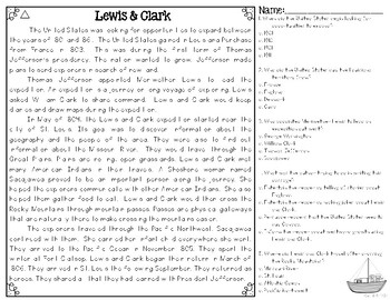 Lewis & Clark and the Louisiana Purchase Differentiated Reading Passages