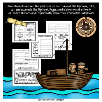 Westward Expansion Activities: Mini-Unit with a Lewis and Clark Flip Book