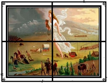 Westward Expansion Manifest Destiny American Progress Painting Activity