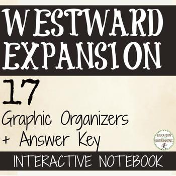 Westward Expansion Manifest Destiny Color  Interactive Notebook