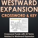 Westward Expansion (Manifest Destiny) - Crossword Puzzle with Key