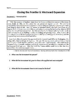 Westward Expansion Manifest Destiny DBQ Inquiry