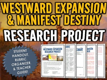 Westward Expansion (Manifest Destiny) - Research Project with Rubric