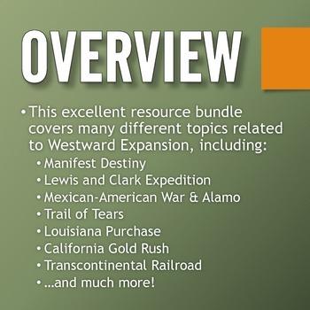 Westward Expansion / Manifest Destiny - Resource Bundle (Projects, Web)