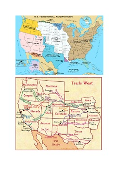 Westward Expansion Map and Journal Project