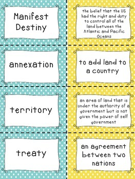 Westward Expansion Matching Vocabulary Activity