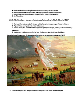 Westward Expansion Multiple Choice, Image Analysis, and Cause & Effect Test