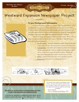 Westward Expansion Newspaper Project