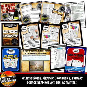 Westward Expansion Manifest Destiny Complete Unit Activity Bundle & Notes