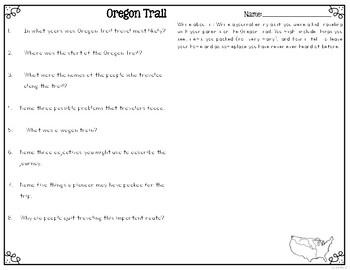 Westward Expansion: Oregon Trail {Differentiated Close Reading Passages}