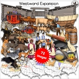 Westward Expansion Oregon Trail Lewis and Clark Mormon Trail Realistic Clip Art