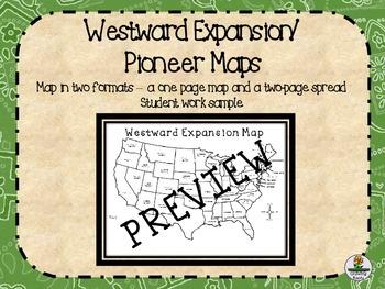 Pioneers Oregon Trail Westward Expansion Blank Maps