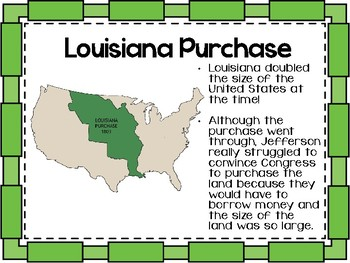 Westward Expansion: Louisiana Purchase Presentation TN SS 4.47