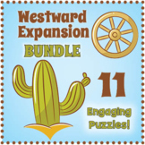 Westward Expansion Activities - Puzzle Worksheet BUNDLE