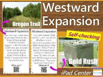 Westward Expansion Task Cards with QR codes