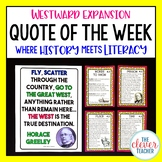 Westward Expansion - Task Cards & Literacy Strategies