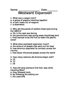Westward Expansion Quiz