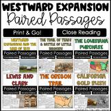 Westward Expansion Reading Comprehesion Paired Passages {Bundle}