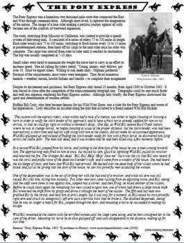 Westward Expansion Reading Passage Bundle - Entralling Primary Source Accounts