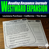 Westward Expansion Reading Responses
