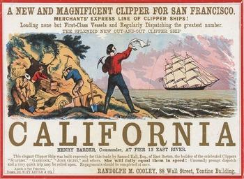 "Westward Expansion - Recreating the ""California Gold Rush"" Sailing Card"