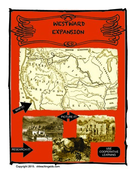 Westward Expansion - Research, Map, Draw.  A Cooperative Learning Unit