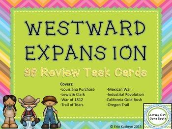 Westward Expansion Review Task Cards - Set of 36