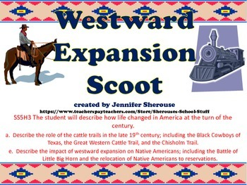 Westward Expansion Scoot with QR Codes