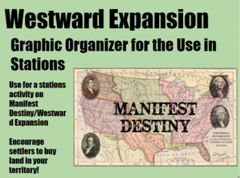 Westward Expansion Stations Graphic Organizer/Notes Guide