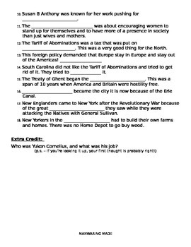 Westward Expansion Study Guide (Fill in the blank)