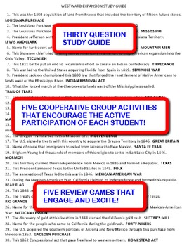 Westward Expansion: Study Guide and Activity Pack