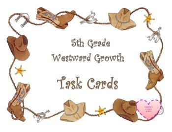 Westward Expansion TASK CARDS - 5th Grade Social Studies